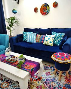 Small Living Room Decor, Indian Home Decor, Mexican Home Decor, Home N Decor, Indian Room Decor, Bohemian Living Room Decor, India Home Decor, House Interior Decor, Home Decor Furniture