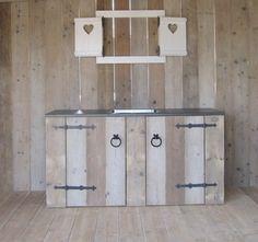 keukenblok van steigerhout