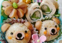 Bear & Flower Bento with 1 Wiener Sausage Recipe -  Are you ready to cook? Let's try to make Bear & Flower Bento with 1 Wiener Sausage in your home!