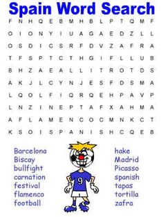 1000 Images About Sopa De Letras On Pinterest Word