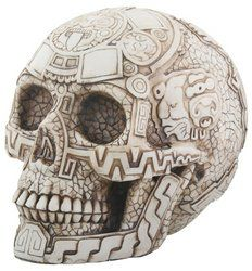 Aztec Skull Head Figurine Display Decoration -- Check out the image by visiting the link. (This is an affiliate link)