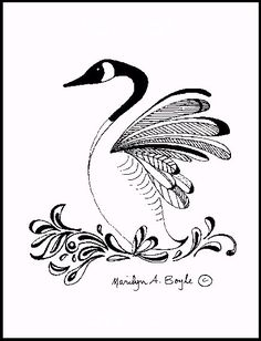 Hey, I found this really awesome Etsy listing at https://www.etsy.com/listing/151607959/print-ink-drawing-canada-goose-wings