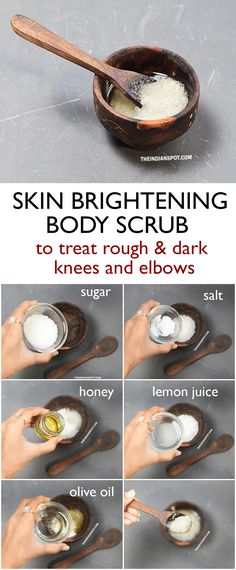 Skin brightening scrub face and body #theindianspot