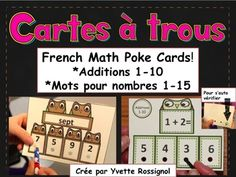 Mes élèves ADORENT ces cartes! Très facile de les faire pratiquer les additions et les mots pour les nombres!!
