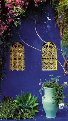 ysl morocco by christa Garden Inspiration, Painting Inspiration, To Go, Hawaii Homes, Colorful Garden, Perfect World, French Artists, Wall Colors, Beautiful Gardens