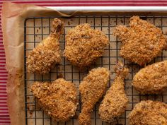 Oven Fried Chicken from FoodNetwork.com...baked on a rack