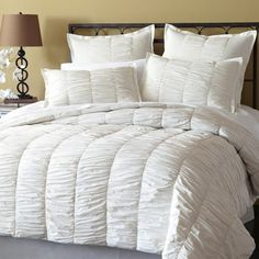 White Ruffled Duvet Cover Set. Shabby Chic Bedding. Cottage Bedding. Louis XV bedding. eighteenth century France bedding