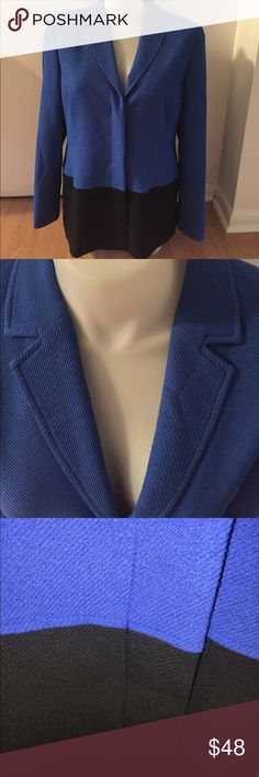 Nwt $528 Worth royal blue and black jacket sz. 18 I love this! If it were my size I would keep it😊beautiful staple fir the workplace at a bargain price! Only tag is hang tag and extra button tag. Free gift with every Posh purchase. Always in the spirit of giving and sharing❤️ Worth Jackets & Coats Blazers