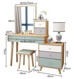 Bedroom Closet Design, Home Room Design, Small Room Bedroom, Room Interior Design, Home Office Design, Living Room Interior, Furniture Design, Wall Dressing Table, Dressing Table Design