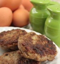 Chicken Apple Sausage - use homemade chicken broth if no homemade apple juice or possibly use pureed spinach.