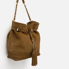Image 3 of LEATHER HOLDALL WITH CHAIN DETAIL from Zara
