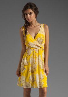 Trina Turk Yellow Winston Dress in Multi