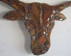 etsy welded art | ... metal wall sculpture Western decor welded PATINA steel collage on Etsy