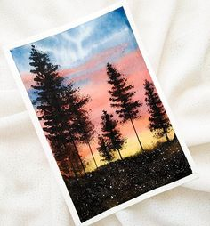 great from each other canvas painting diy, aesthetic painting, painting bedroom, chalk kitchen, watercolor ideas. Cute Canvas Paintings, Small Canvas Art, Mini Canvas Art, Canvas Canvas, Watercolour Painting, Painting & Drawing, Watercolor Sunset, Watercolor Ideas, Pour Painting