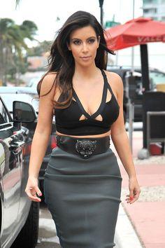 Kim Kardashian Photo - Kim Kardashian and Kanye West in Miami 2