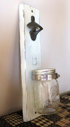 Mason Jar Bottle Opener Beer Bottle Opener Barware by MasonMaiden