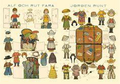 travelling paper dolls