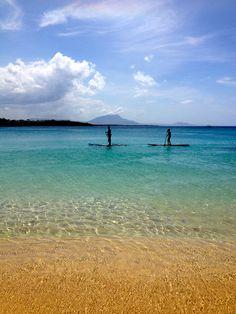 SUP at Sosua Beach, North Coast of the Dominican Republic.