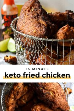 You guys, this low carb fried chicken is the thing picnic dreams are made of! Plus, it's so simple, and so fast, this healthy recipes perfect for whipping up for a crowd. #lowcarbfriedchicken #ketofriedchicken