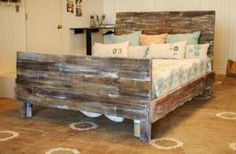 Pallet Bed.   I like this one because there isn't any sharp corners sticking out from under the mattress to stub your toes on