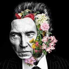 """""""Nós somos feitos de flores."""" - A impressionante série de colagens criadas por Marcelo Monreal mistura retratos, surrealismo e arte botânica. Inspire-se!"""
