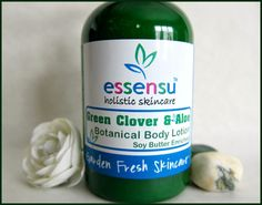 Green Clover and Aloe Botanical Body Lotion - 4 oz Vegan No Parabens | essensu - Bath & Beauty on ArtFire