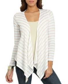 Striped Sweater Knit Wrap from WetSeal.com