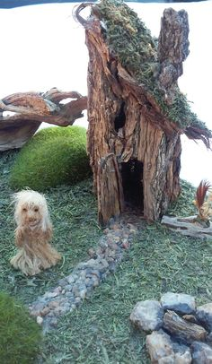 Miniature Unique Ooak Odd Diorama Troll Fairy House Primitive Rustic Dollhouse | eBay