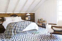 Under the eaves  Schoolhouse Rock: An Amazing Renovation via @Elizabeth Cassinos Living Magazine