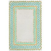 Found it at Wayfair - Capri Ethnic Border Aqua Indoor/Outdoor Area Rug