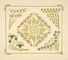 [Abstract design based on small leaf shapes.] - ID: 1553697 - NYPL Digital Gallery