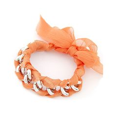 Orange Glam Bow Chain Bracelet