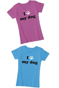 Express your puppy love in this dog friendly t-shirt. More colors available.  Fast and friendly customer service.