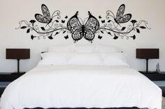 adesivo de parede quarto de casal borboletas