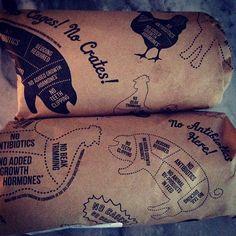 お肉屋さんの包装紙?Good!