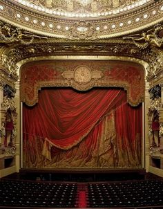 """The """"Palais Garnier"""" in Paris, France. Fun fact: It was built by Charles Garnier for the Emperor Napoleon III during the Second Empire. This building inspired the story of """"The Phantom of the Opera,"""" so I'd stay away from box five if I were you. Also, there actually is an underground lake."""