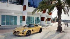 Dubai Mercedes Benz Sls Amg Cars Vehicles #wallpapers #widescreen #backgrounds