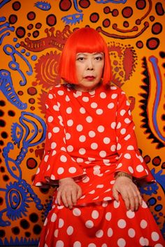 "!""…a polka-dot has the form of the sun, which is a symbol of the energy of the whole world and our living life, and also the form of the moon, which is calm. Round, soft, colorful, senseless and unknowing. Polka-dots become movement… Polka dots are a way to infinity.""yayoi kusama"
