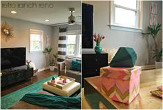 Retro Ranch Reno: Adding Some Spring...& A Giveaway!! gorgeous spring living room