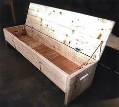 La boîte de rangement originale et banc. Futurustic par Naturalcity