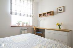 Wielka płyta po metamorfozie - Mała sypialnia małżeńska, styl nowoczesny - zdjęcie od Inside Story