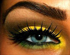 Colorful makeup.