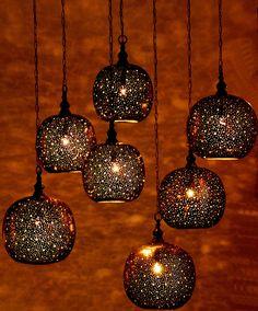 Moroccan pendant lanterns by St. Tropez Boutique