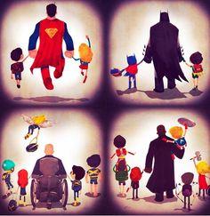Superheroes with kids.