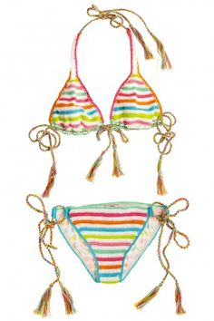 Anna Kosturova Crochet String Bikini Top  | Calypso St. Barth