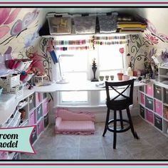 Turning an Old Outdated Closet/room Into a Vibrant Art & Craft Room.