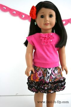 Sewing- An Elastic Band Skirt for Dolls and a Few Tip on Sewing for Dolls - Doll It Up