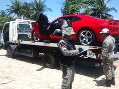 Foto: Secom/PB Policiais do Batalhão de Policiamento de Trânsito apreenderam um carro Chevrolet Camaro, avaliado em quase R$ 150 mil reais, durante blitz realizada nesse domingo (18), no bairro do ...