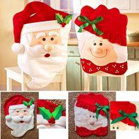 1 par de Mr & Mrs papai noel cadeira da sala de jantar decoração de natal decoração de casa
