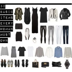 30 Basic Items Every Woman Must Own